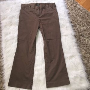 J. Crew City Fit Brown Trousers 10 Short Pants 10S